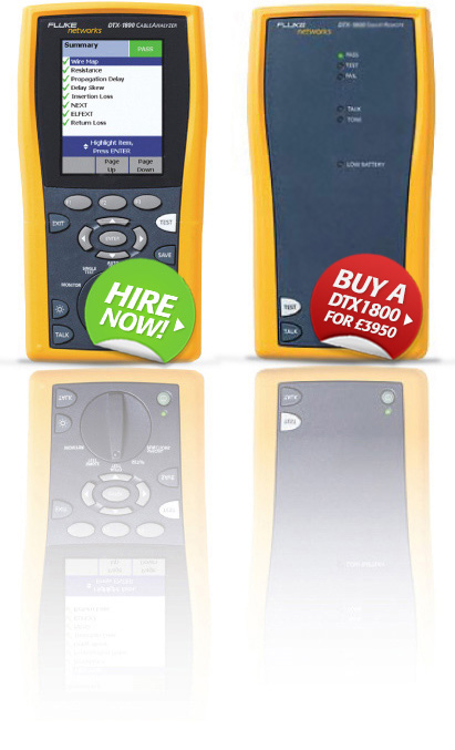 The Fluke DTX1800 Cable Analyzer